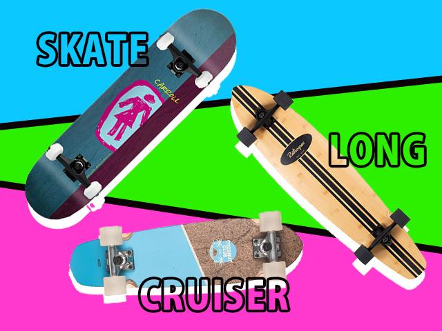 スケートボードの3つのタイプの特徴と楽しみ方!